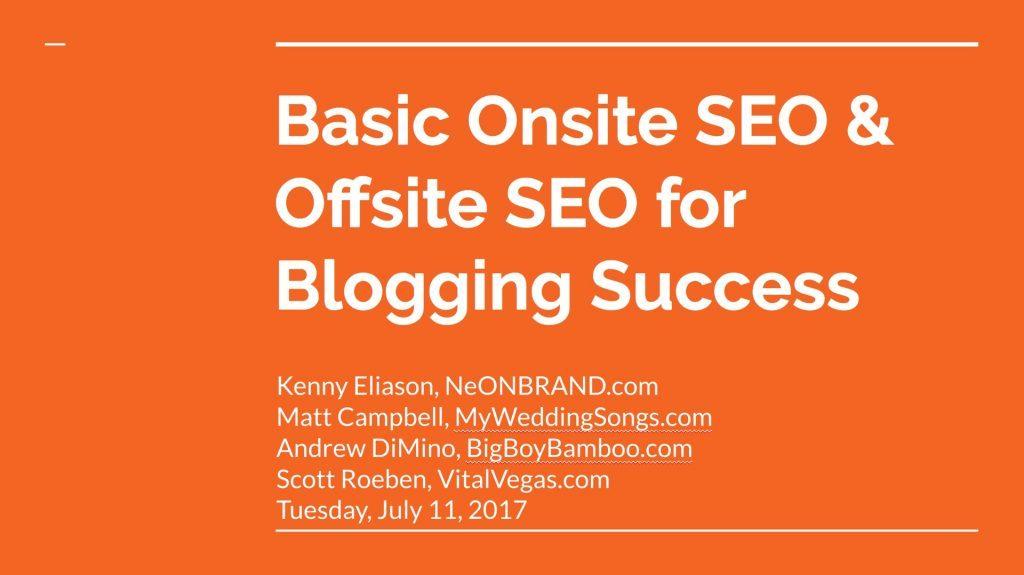 Basic Onsite SEO & Offsite SEO for Blogging Success
